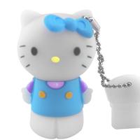 NEW HELLO KITTY/BLUE CARTOON USB MEMORY STICK FLASH PEN DRIVE IDEAL NOVELTY GIFT 2G 4G 8G 16G 32G