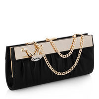 Brand new soft PU day clutches for women small sequined party evening bags with crystal K819