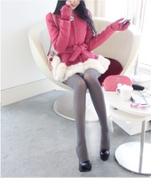 Woolen outerwear female medium-long 2013 autumn slim woolen overcoat sweet Women o-neck wool coat