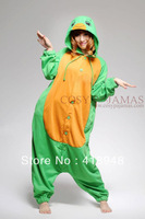 Wholesale New Green Turtle Cosplay Costume Animal Onesie Pajams Sets Sleepwear All in one Pyjamas for Adult Fleece S/M/L/XL