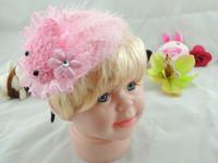 9Pcs/Lot New fashion Hello Kitty top cartoon plush hairbands Party fascinator Princess headbands  Hair Accessory