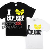 Street skateboard wu-tang wudangshan short-sleeve T-shirt hiphop hip-hop hiphop tee fashion