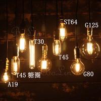 Light bulb pendant light nostalgic vintage light bulb pendant light bar table bedroom lamp decoration art pendant light 2013
