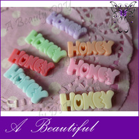 20PC/Lot Mixed Color Flat Back Cabochon Resin Letter  HOKEY Word For DIY Mobile Accessories Free Shipping#FP551