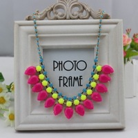 Cuicanduomu neon drop acrylic personalized necklace luxury