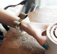 2013 New Free shipping  Women's Retro Style Beading Bowknot Elastic Bracelet Bronze YW13041454