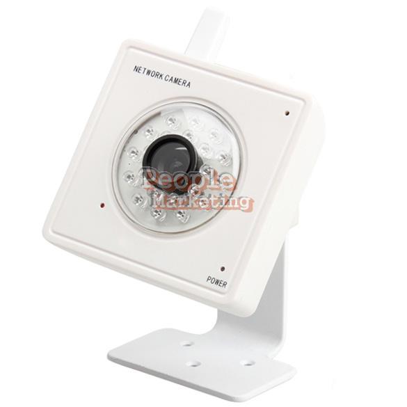 Wireless Audio 21 LED Camera Night Vision Security Webcam White WiFi Network P4P(China (Mainland))