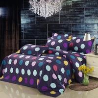 Sanded four piece set bed sheets duvet cover rustic 4 velvet bedding