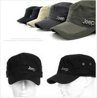 Free delivery denim flat hat single adjustable sunshade cap embroidery letters men baseball cap