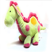 Cute plush dinosaur  Music pulled the bell  baby appease  musical toys