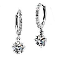 Simple design fashion women jewelry/ zircon/rhinestone 18k real platinum planted earrings WL0506