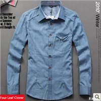 The new 2013 autumn decorates body tide men long sleeve shirt cowboy casual shirts men long sleeve shirt