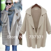 FreeShipping So the only  Women Autumn And Winter Large Loose Outerwear Sweater Cardigan/ Female Long  Cardigans /Knitwear/ Coat