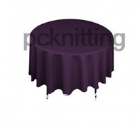 Free Shipping Eggplant Round polyester 90 inches table cloth /wedding table cover Polyester table cloth