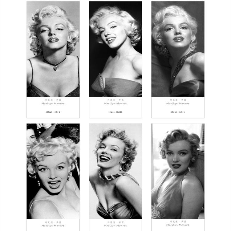 7pcs/set Vintage Paper bookmark /Hollywood movie star Marilyn Monroe bookmark 54*140mm /Book holder/ bookband /Wholesale(China (Mainland))