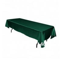 Free Shipping hot selling satin Hunter Green square 60*126 in tablecloth