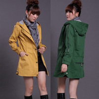 13 spring and autumn medium-long casual women's slim outerwear female hooded trench