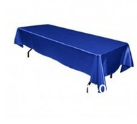 Free Shipping hot selling satin Royal Blue square 60*126 in tablecloth/ table cover