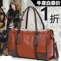 New arrival genuine leather women's handbag 2013 vintage fashion leather bag female one shoulder cross-body bag free shipping