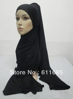 S466a latest 180*80cm, big size plain cotton elastic jersey muslim long scarf,maxi scarf,fast delivery