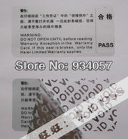 Tear is invalid  Void sticker printing-unremoved-damaged when open-white/silver background2.5cm3000pcs/lot  Can be customized