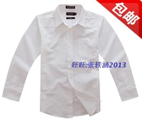 Nautica long-sleeve shirt male child shirt children's clothing plus size shirt adult
