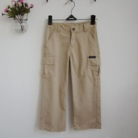 Autumn nautica child male child trousers 100% cotton straight for recreational pants 0.25