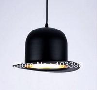 modern style lamp design items 110v 220v power e27 Jeeves Wooster Top Hat pendant lights hat light Outside Black Inside silver