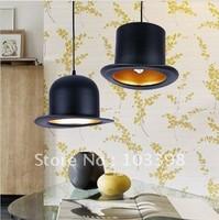modern style lamp design items 20v power e27 Jeeves Wooster Top Hat pendant lights hat light Outside Black Inside silver 2013