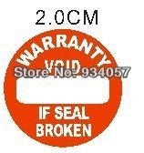 2400pcs/lot Warranty sealing label sticker void if seal broken, diameter 2.0cm, Item no.CU15, free shipping