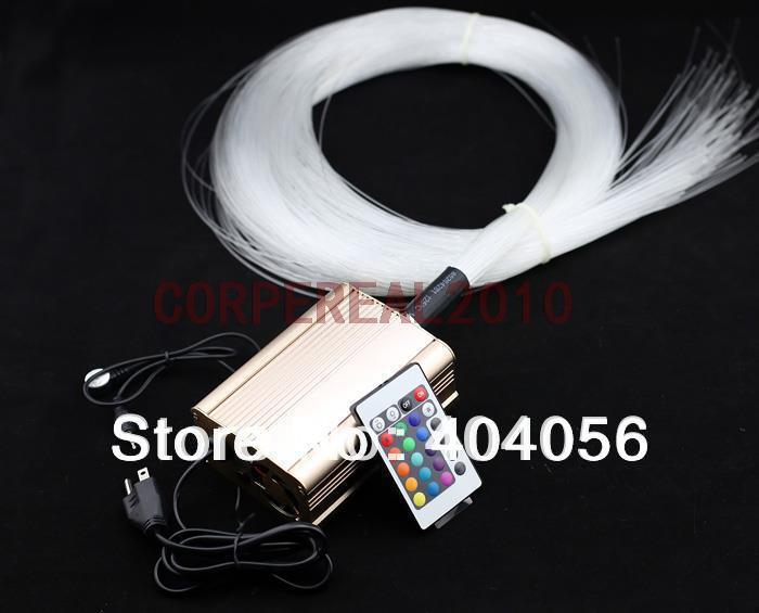 DIY Fiber Optic starfield lights - 16w led light engine & multi-strand ps fiber optic filament (200pcs-0.75mm-2m)(China (Mainland))