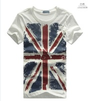 2013 torx flag pattern o-neck casual t-shirt male short-sleeve ,Men's t shirt