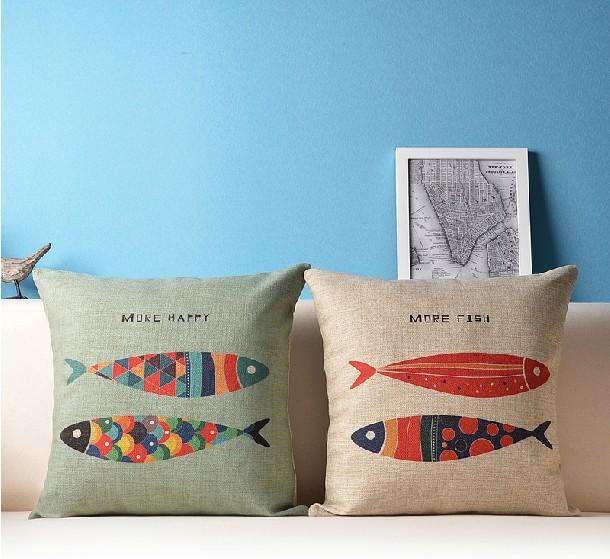 Compra fish cover pillow online al por mayor de china - Almohadas en ikea ...