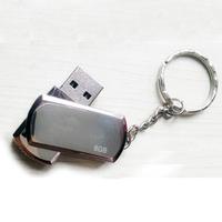 Metal gift usb flash drive 8g rotary usb flash drive