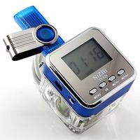 Tt028 crystal mobile phone small audio mini portable tf card usb flash drive speaker subwoofer