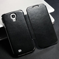 Ultrathin Flip leather case for Galaxy S4 Mixed Aluminum & Leather Material Original Gsource case for samsung N9000 + Gifts