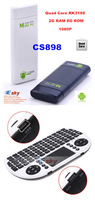 Flying Keyboard +CS898 Bluetooth Quad Core MK809 III RK3188 Android 4.2 MINI PC TV Stick 2GB RAM 8G ROM