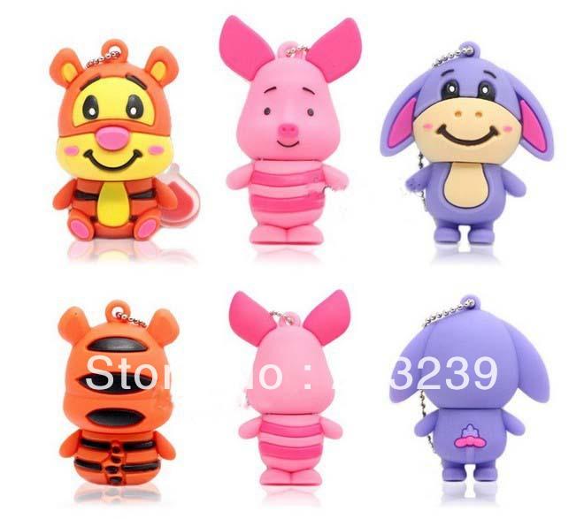 Funko Selling!Wholesales New Cartoon Cute Animal models usb 2.0 memory flash stick pen thumbdrive/disk(China (Mainland))
