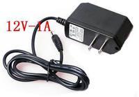 DC 12V 1A charger ,12W power adapter,US plug or EU plug,100pcs/lot