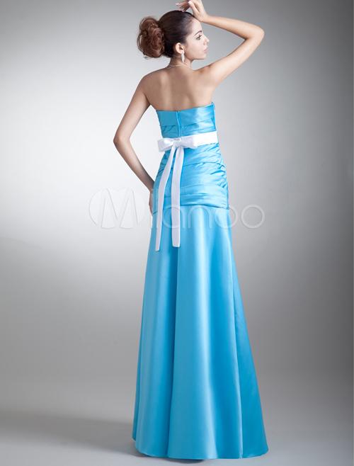 Christmas Elegant Blue Bridesmaid Dresses Pageant Dresses Wedding