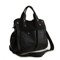 2013 female bags women's canvas bag shoulder bag vintage handbag women's black coke big bag