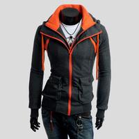 Winter-Autumn 2013 Assassins Creed Costume Hoodies Assassins Creed Jacket Hoodie Big Size Sweatshirt Free Shipping LLY11-14
