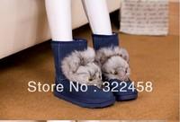 The fox hair female boots