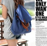 New 2014 Canvas Women Backpack Casual Women Bag Fashion Blue Printing Backpacks Lady Rucksack Mochila Girls School Backpacks