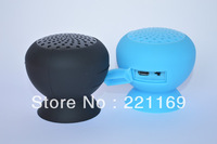 100pcs free shipping Stylish Mini Mushroom Bluetooth Speaker Hands free Waterproof Silicone Suction