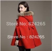 2014 Time-limited Limited Casacos Femininos Sobretudo Women Autumn And Winter Cloak Coat Overcoat Collar Outerwear Cape Female