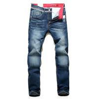 Free shipping 2013 Autumn on the new blue wear white original big scull Slim Korean fashion men's jeans