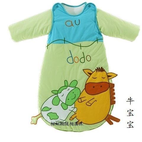 Spring and autumn child sleeping bag baby anti tipi air conditioning heating sleeping bag thickness(China (Mainland))