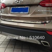 2013 Hyundai Santa Fe ix45 High quality stainless steel Rear Trunk Lid Cover Trim   ghh