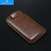 DHL wholesale 100 pcs 13 Colors PU Leather Sleeve Bag Pull Tab Pouch Case Cover For Samsung Galaxy S4 I9500